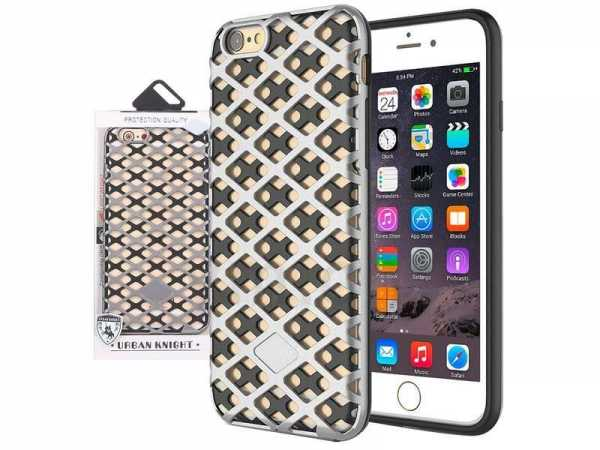 Apple iPhone 7 / 6S / 6 Plus Hülle - Mesh Fashion Style Case - silber - yourmobile.ch