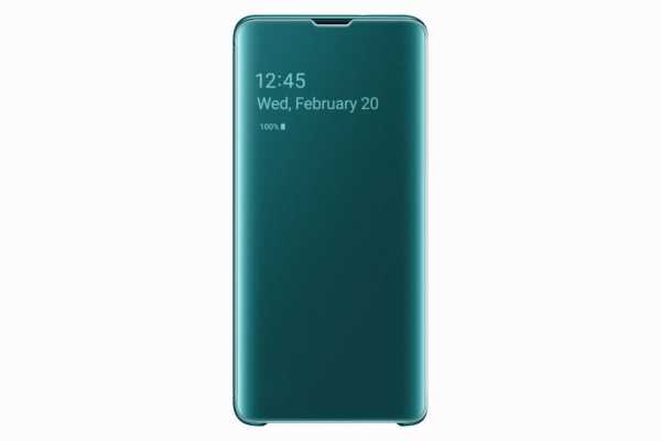 Samsung Galaxy S10 Case - Samsung - EF-ZG973 Clear View Cover - grün