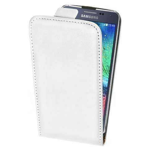 Slim FlipCase - PU-Leder - Samsung Galaxy Alpha Case - weiss - yourmobile.ch - 21937