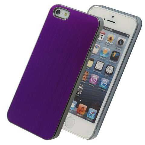 Apple iPhone 5 - 5S Back Cover - alu-violett - yourmobile.ch -13981