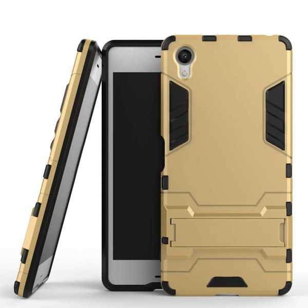 Sony Xperia X Hülle - Defender Cover - gold - yourmobile.ch