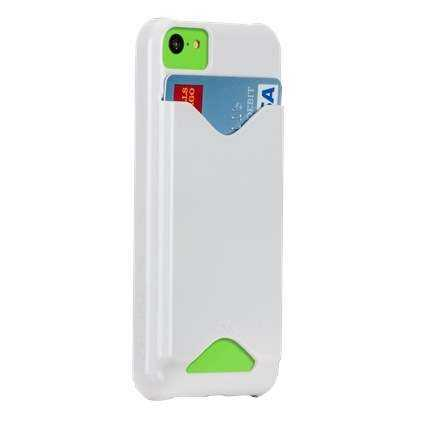 Apple iPhone 5C / Barely There ID case von Case-Mate - weiss