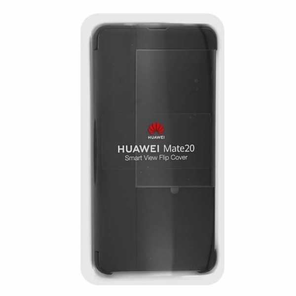 Huawei Mate 20 Case - Huawei Original - Smart View Flip Cover - schwarz
