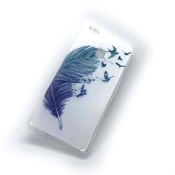 Huawei P9 Lite Hülle - SoftCase - Feathers