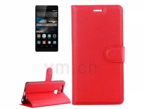 Huawei P9 Case - Book Case mit Kreditkartenfach - PU-Leder - Anco - rot - yourmobile.ch