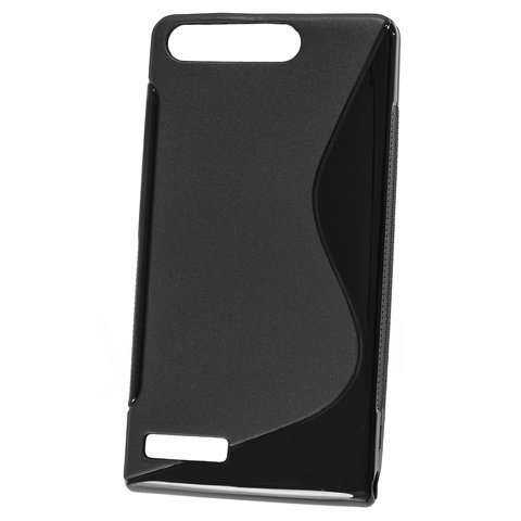 Rubber Case Wave - Huawei Ascend G6 Hülle - schwarz - yourmobile.ch - 20603