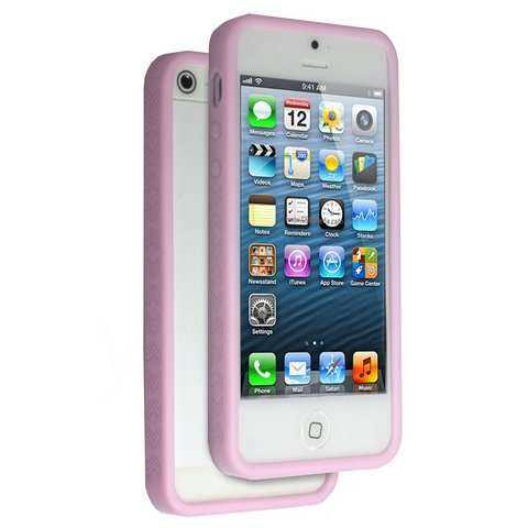 Apple iPhone 5 - 5S Bumper - pink - yourmobile.ch -13427