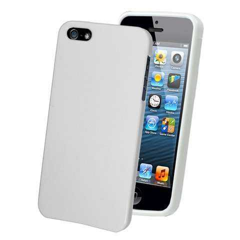 Apple iPhone 5 - 5S TPU Case - glänzend-weiss - yourmobile.ch -13153
