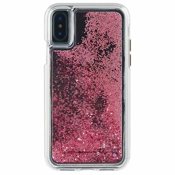 Apple iPhone XS / X Hülle - case-mate - Naked Tough Waterfall Case - transparent / rosé