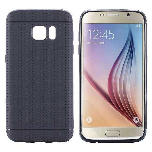 Samsung Galaxy S7 Hülle - TPU Cover - Honeycomb - schwarz - yourmobile.ch