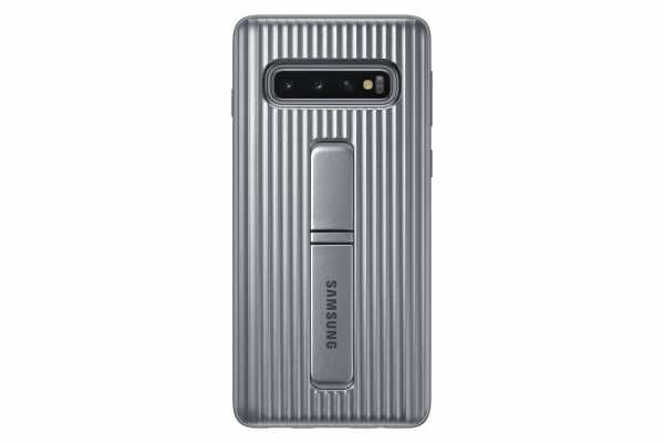 Samsung Galaxy S10 Hülle - EF-RG973 Protectiv Stand Cover - silber