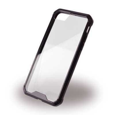 Apple iPhone 7 / 6S / 6  Hülle - UreParts - Acrylic TPU Hardcover - transparent-schwarz - yourmobile.ch