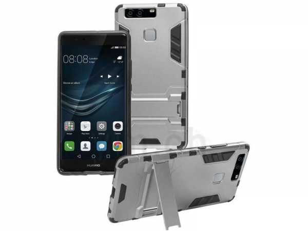 Huawei P9 Hülle - Defender Cover - Anco - silber - yourmobile.ch