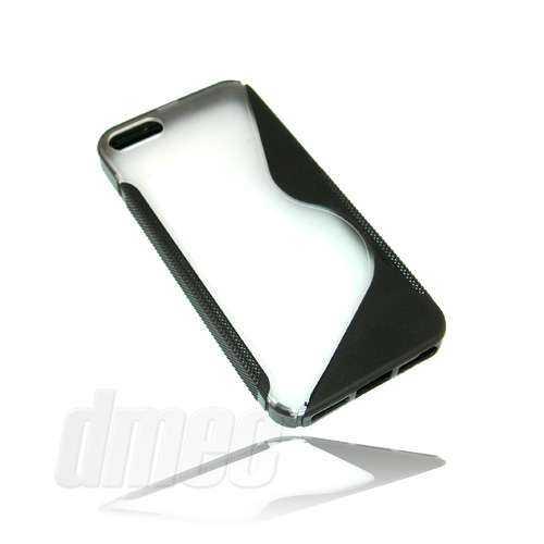 Design Hard Case S-Curve für Apple iPhone SE / 5S / 5 - schwarz/transparent