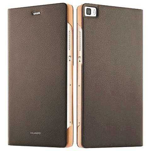 Huawei Ascend P8 Lite Case - Huawei - Folio BookCase - braun - yourmobile.ch - 26002