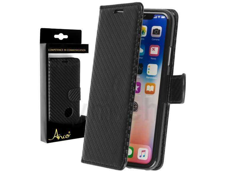 Image of Anco Apple iPhone XS / X BookCase - Carbon - schwarz