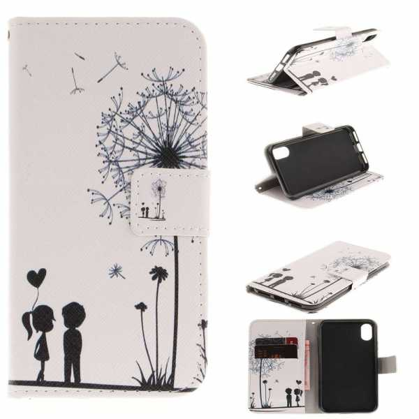 Apple iPhone XS / X Case - BookCase - Dandelions and Lovers