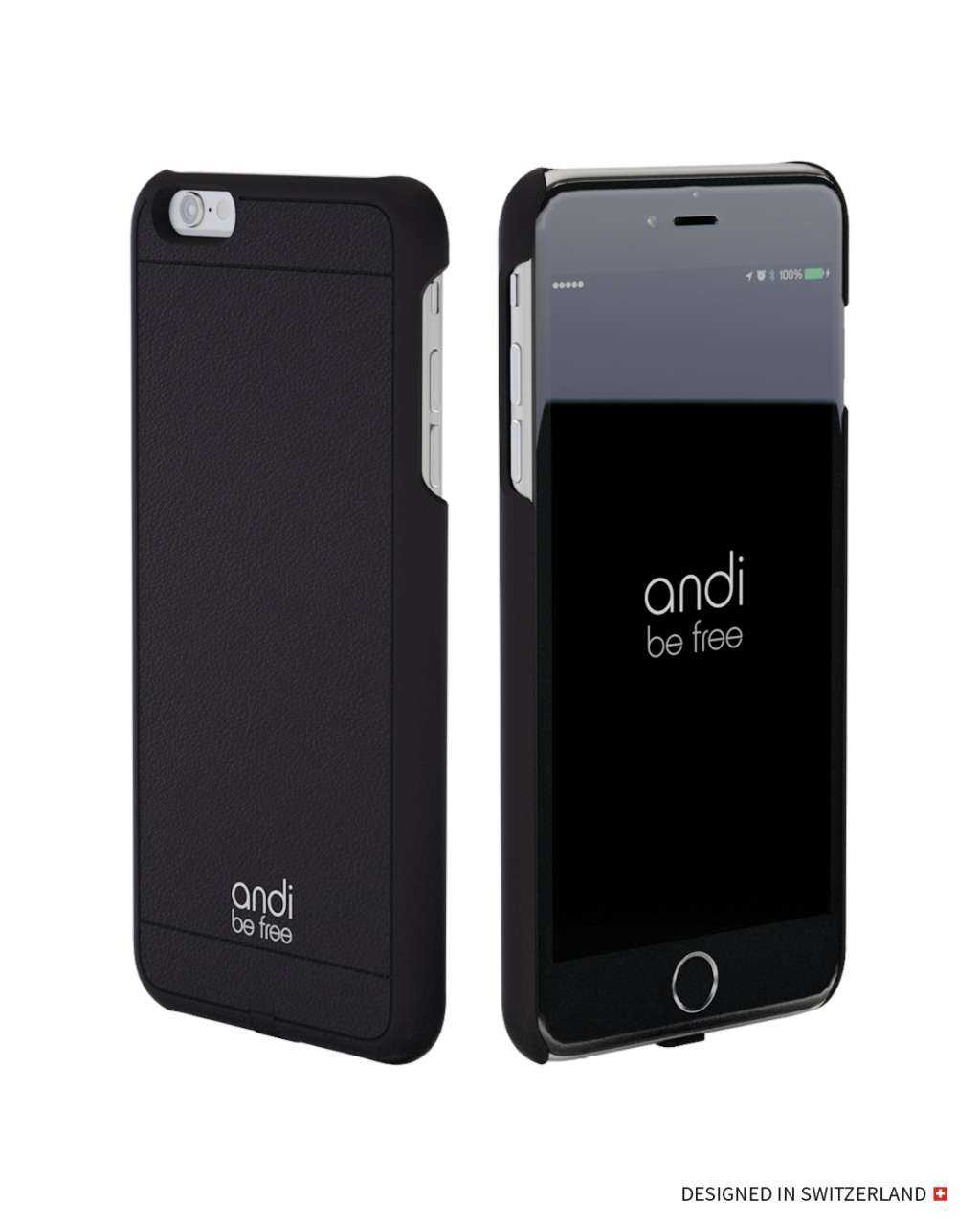 Image of andi be free Apple iPhone 6S / 6 Hülle - Wireless Charging Case - schwarz