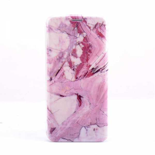 Samsung Galaxy S9 Plus Case - BookCase - Marble - pink