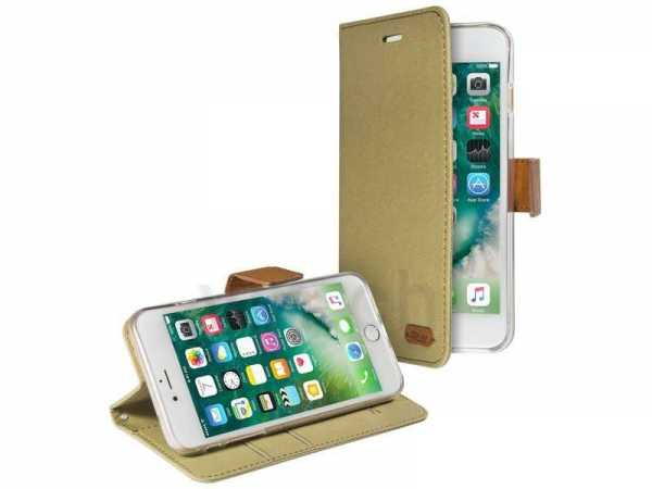 Apple iPhone 7 Plus Case - Book Case mit Kreditkartenfach - PU-Leder - khaki - yourmobile.ch