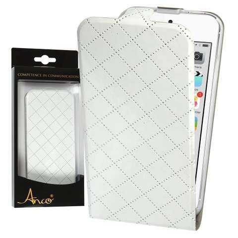 Anco - FlipCase - glanz Muster - PU-Leder - Apple iPhone 6 Case - weiss - yourmobile.ch - 22304