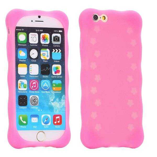 Apple iPhone 6 Plus Hülle - SoftCase - TPU leuchtend - pink - yourmobile.ch 1