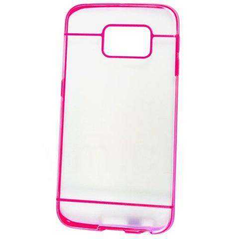Samsung Galaxy S6 Edge Hülle - Hard Case - Silikon - transparent / pink - yourmobile.ch - 25379