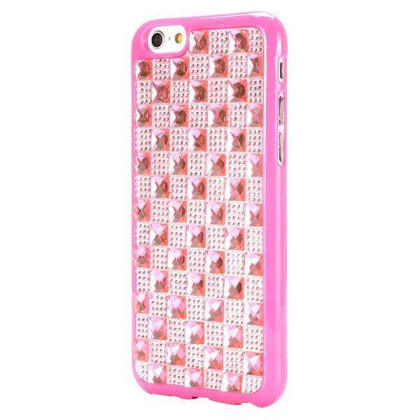 Apple iPhone 6 / 6S Hülle - SecretStar - Diamanten Edition - rosa - yourmobile.ch 2