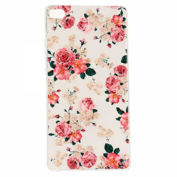 Huawei Ascend P8 Hülle - SoftCase - Rosen - yourmobile.ch