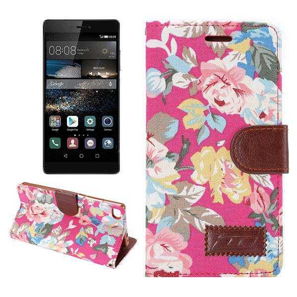 Huawei Ascend P8 Case - BookCase - Rosen - pink - yourmobile.ch 1