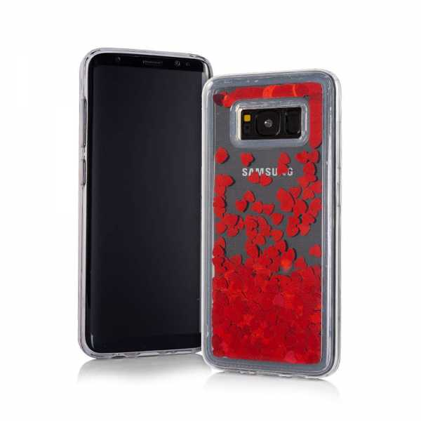 Samsung Galaxy A6 Plus (2018) Hülle - Hard TPU Case - Liquid Heart - rot