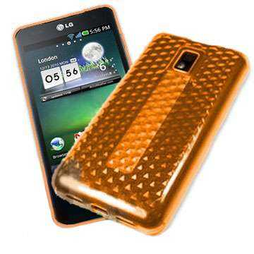 Kunststoff GEL Case für LG P990 Optimus Speed, orange hex
