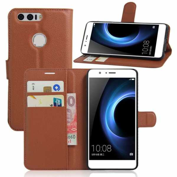 Huawei Honor 8 Case - Book Case Flip Stand - PU-Leder - braun - yourmobile.ch