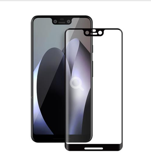 Google Pixel 3 XL - 3D Glass Case-Friendly - schwarz - Härtegrad 9H