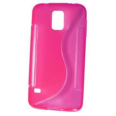 Rubber Case Wave - Samsung Galaxy S5 mini - pink - yourmobile.ch - 20884