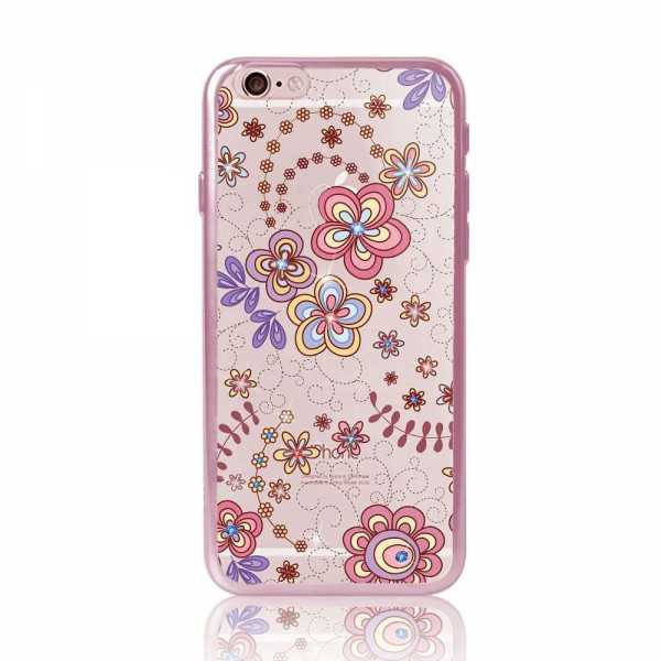 Apple iPhone 6 / 6S Hülle - Dita - Rosen Edition - transparent-rosa - yourmobile.ch
