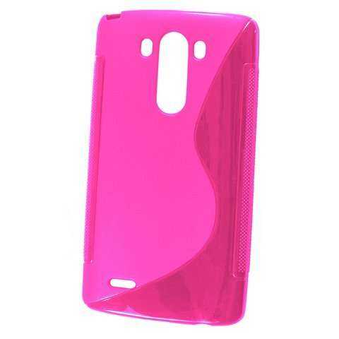 Rubber Case Wave - LG G3 - pink - yourmobile.ch - 20890