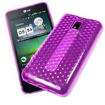 Kunststoff GEL Case für LG P990 Optimus Speed, lila hex (Solange Vorrat)