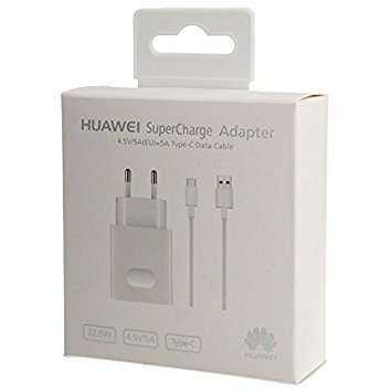 Huawei Reiselader Super Charge inkl. 5A USB-C Kabel AP81 - weiss