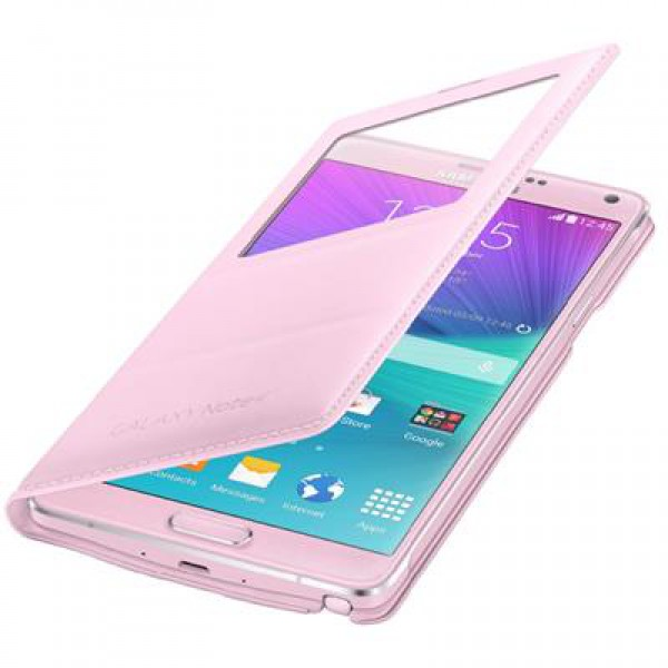 Samsung - Original S-View Cover - Samsung Galaxy Note 4 Case - pink ...